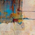 """""""Reflets"""". mur n° 31, huile sur toile, 100 x 100 cm. (1991)"""